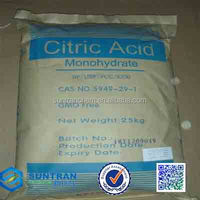 Industrial Citric Acid Price/Citric Acid Monohydrate/Bulk Citric Acid CAS No.:77-92-9 trust