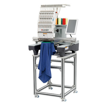 Used Embroidery Machines For Sale >> Elucky 15 Colors Single Head Industrial Used Computerized Embroidery Machine Price For Sale Buy 15 Colors 15 Needles Single Head Embroidery