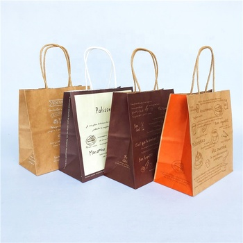 High quality paper kraft food bag factory cheap wholesale custom printed kraft paper bag for bread