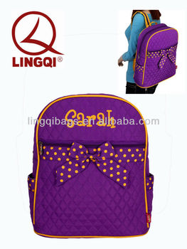 Quilted Maroon Backpack Bag For High School Girls - Buy Quilted ...