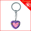 Coloured love photo frame shaped plastic key chain