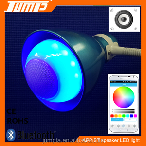 Good quality bluetooth E27 7W RGB + white LED light bulb wireless speaker