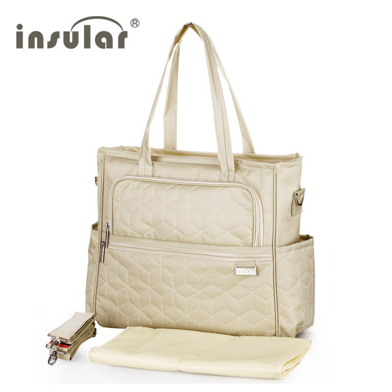 2015 New Arrival  Shipping Free 100% Nylon Fashion Baby Diaper Bags Nappy Bags Mommy Bag Multifunctional Changing Bags