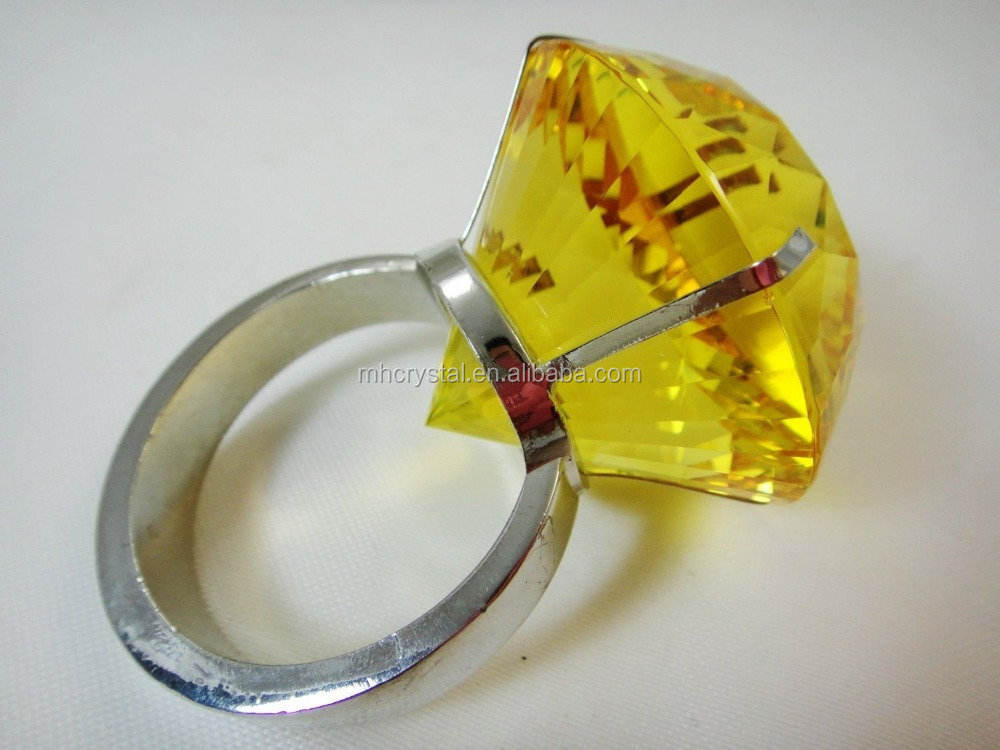 Crystal Diamond Jewel ring Paperweight MH-00173B