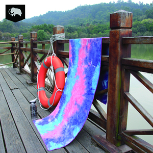 washable tie dye sweat absorbent yoga towel