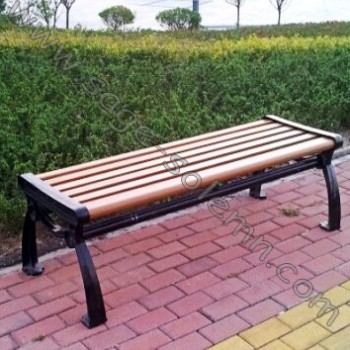 Outdoor Bench Without Back Garden Cast Iron And Wood Park Product On Alibaba