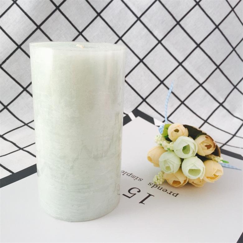Frostwork Surface Scented Home Fragrances Wedding Decoration Pillar Candle