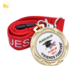 Custom wholesale medal school medal with red ribbon, honor award medal