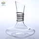 Lead free Black circle drink ware 1350 ML glass wine decanter with handle