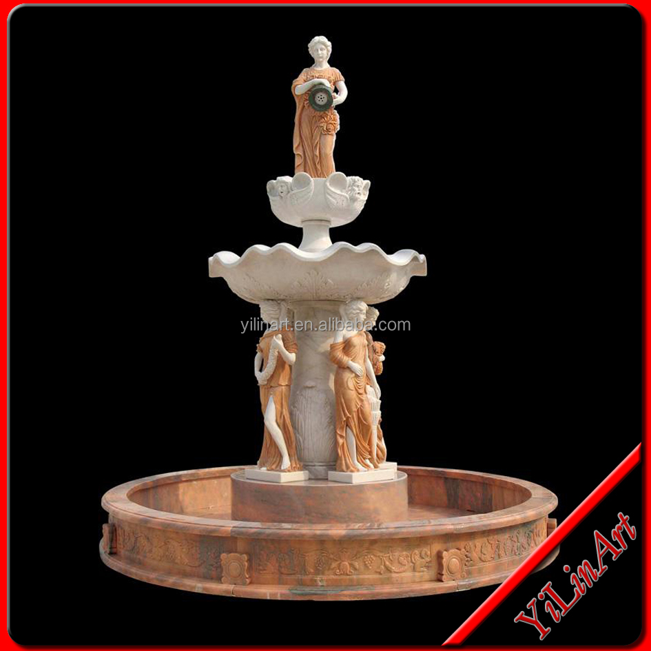 Large Outdoor Beautiful Stone Water Feature Fountains (YL-P048)