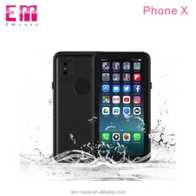 Dot pattern waterproof phone case for iphone x pc silicon pvc material mobile phone cover