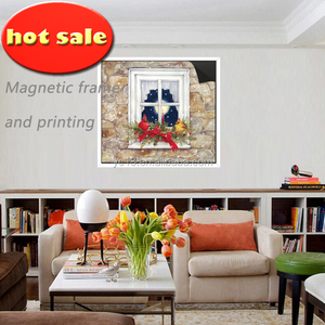 children promotion animal cartoon picture magnetic wooden frame &print magnetic paintings picture 1013-108