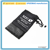 factory custom pvc mesh and polyester pulling rope storage bag black small drawstring bag