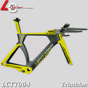LightCarbon triathlon carbon bicycle frameset with BB386 for time trial and marathon