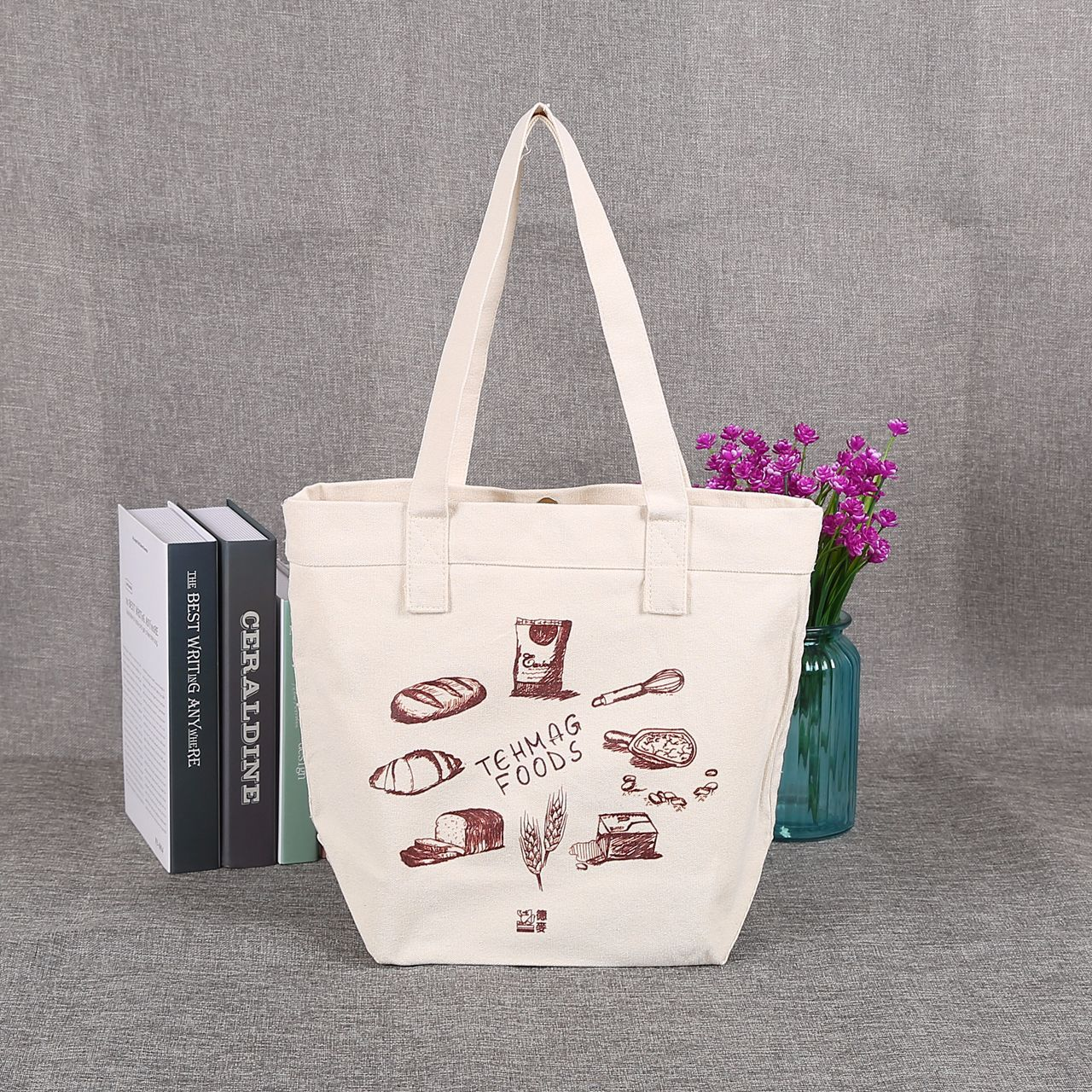 Wholesale custom made cotton canvas bag bag green canvas bag can be customized LOGO