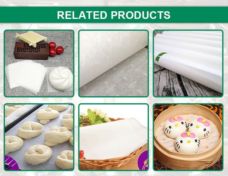 Custom size baking and cooking parchment paper greaseproof paper
