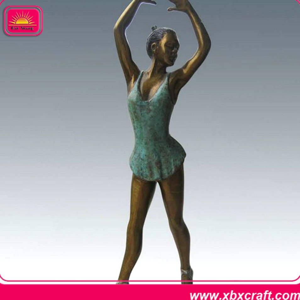 home decor metal ballerina figurine with bronze dance angel