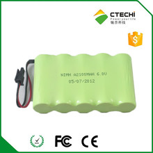 High quality NiMH 6V Battery Pack A size 1000mAh 10-15C