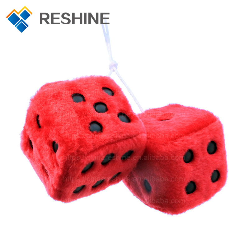 Gifts Promotional Plush Soft Toy Hanging Scented Plush Dice For Car