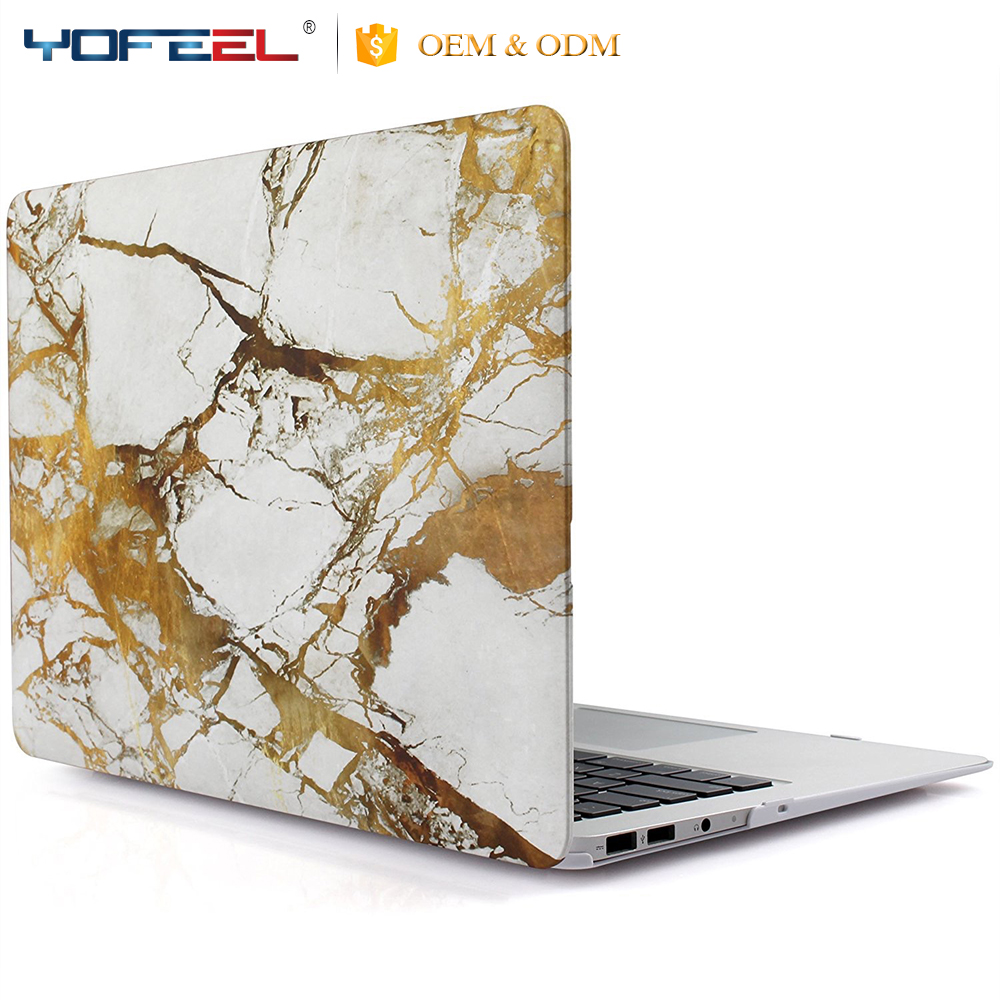 "Fancy Lightweight Marble PC Plastic Laptop Hard Shell Case for Macbook 11""-15"" , Laptop Back Cover for Macbook"
