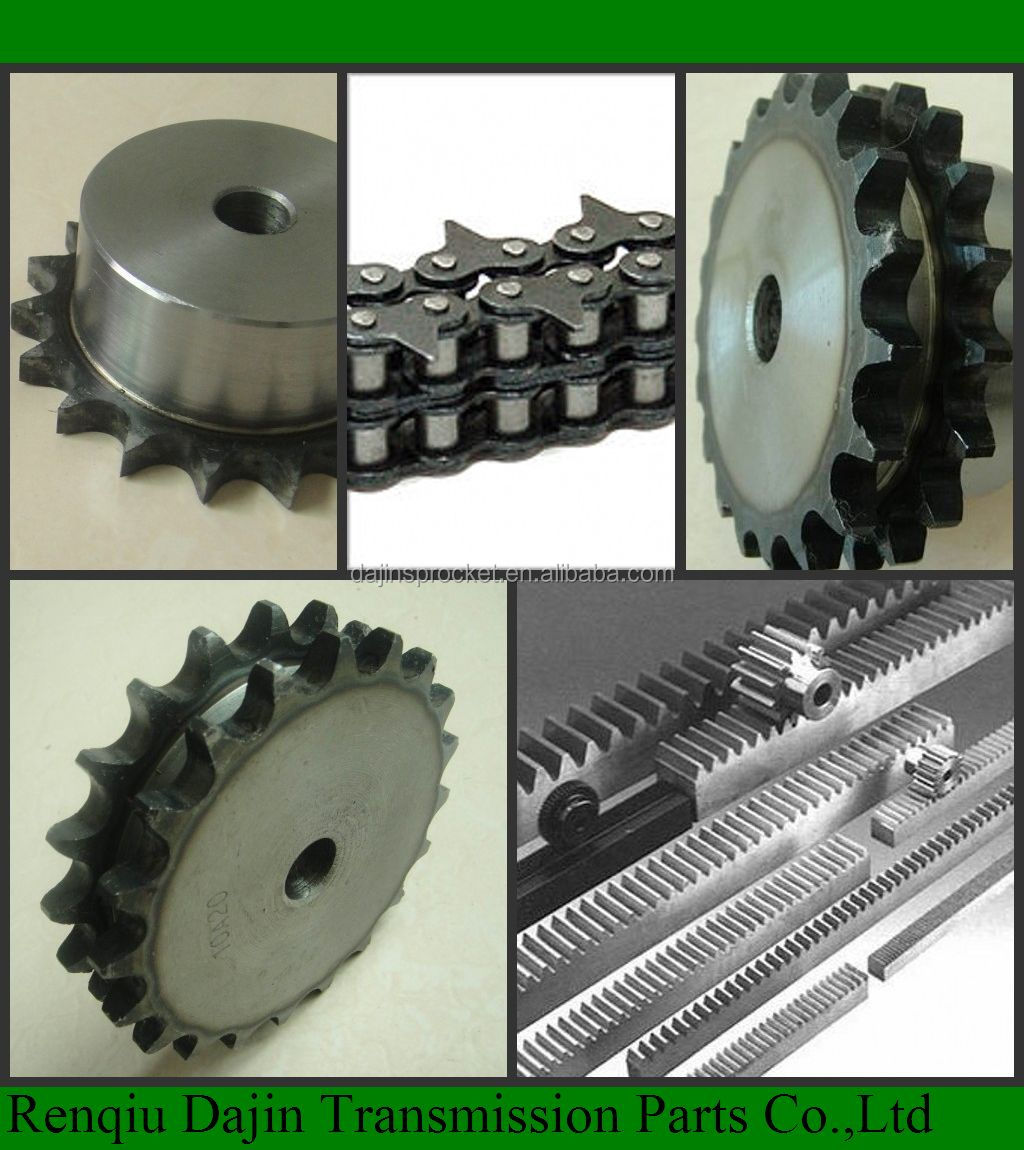 Dajin C45 steel sprocket for agriculture machinery with hub / transmission standard sprocket blacken surface steel