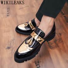 Мужская обувь с перфорацией типа «броги»; элегантные итальянские вечерние мужские туфли; брендовая Свадебная Мужская обувь; официальная об...(Китай)