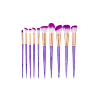 Lady 10 Pcs Silikon Sikat Set Wajah Wajah Topeng Sikat Eye Makeup Brushes Kosmetik