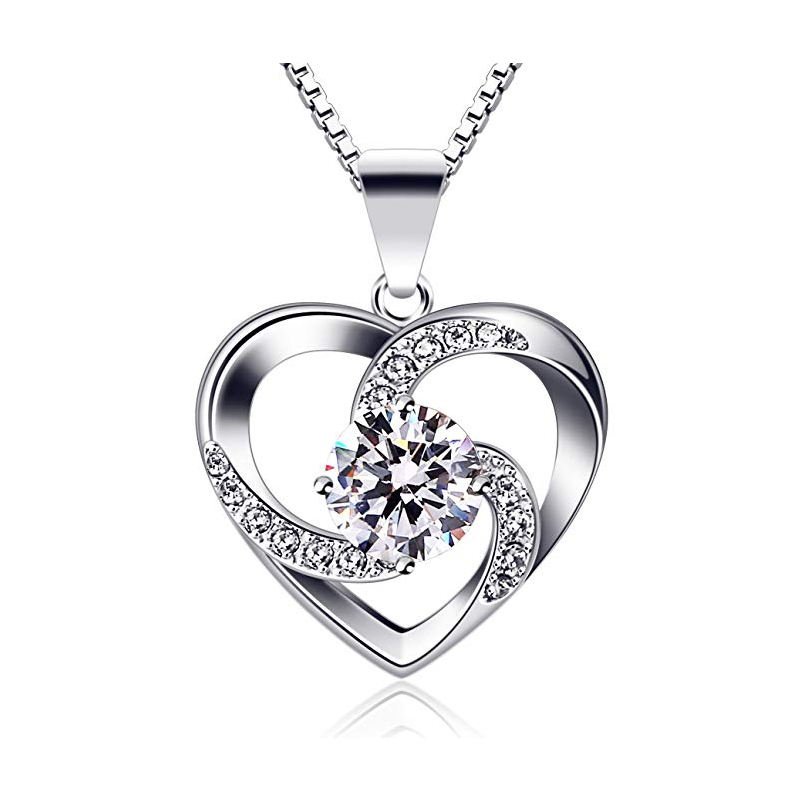 Crazy love pendant necklace 925 sterling silver necklace