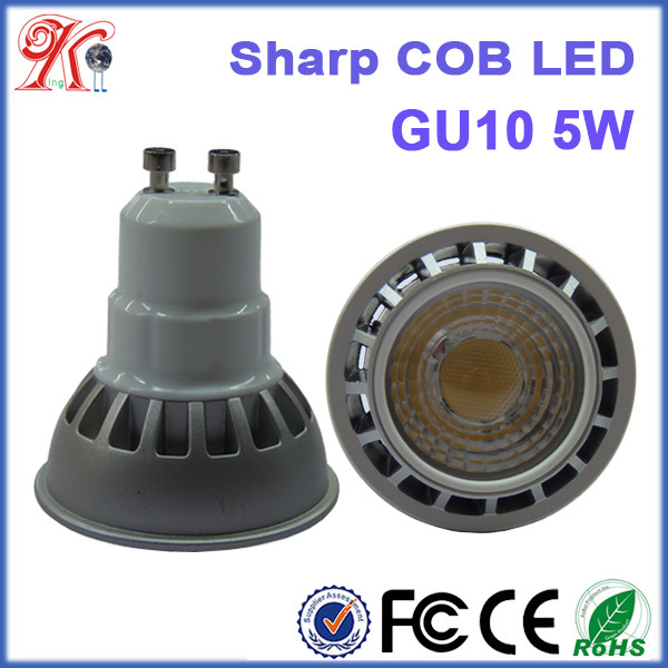 high quality warm/cool/day white 5w gu10 led spot light bulb light dimmable