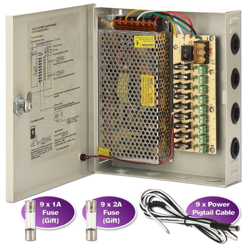Cheap 15v 1 Amp Power Supply Find Deals On 15 Volt Regulated Get Quotations Soter Security Surveillance 9 Port 12v Dc Distribution Box Cctv Camera