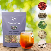 Wholesale Chinese Organic Cleansing Body Herbal Super Nature Liver Colon Detox Cleanse Detox Tea Bulk Private Label OEM
