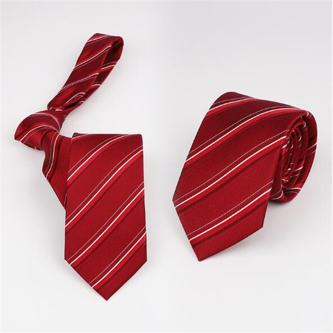 Soft Yarn Dyed Woven Stripe Silk Necktie From Chinese supplier