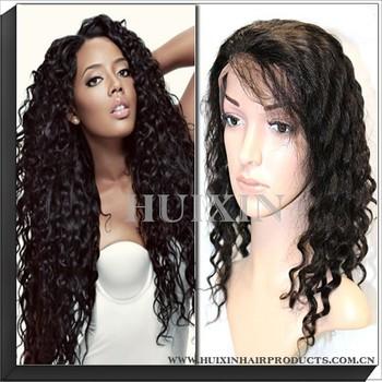 top sell high quality human hair curly wig half wig human