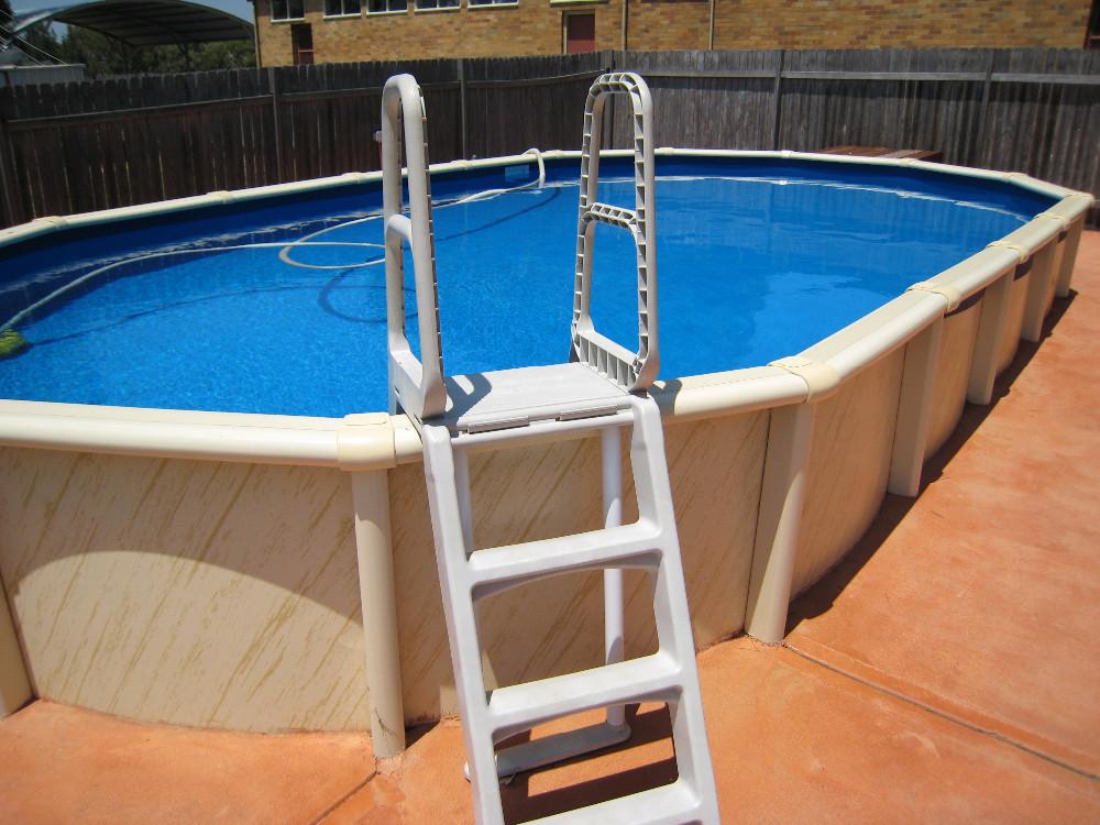 Arma o de metal flutuante piscina acima do solo piscina for Piscine 4x4