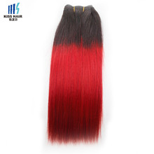 10-18 inch silky straight two tone braids hair ombre T1b/red virgin Malaysian human hair bundles