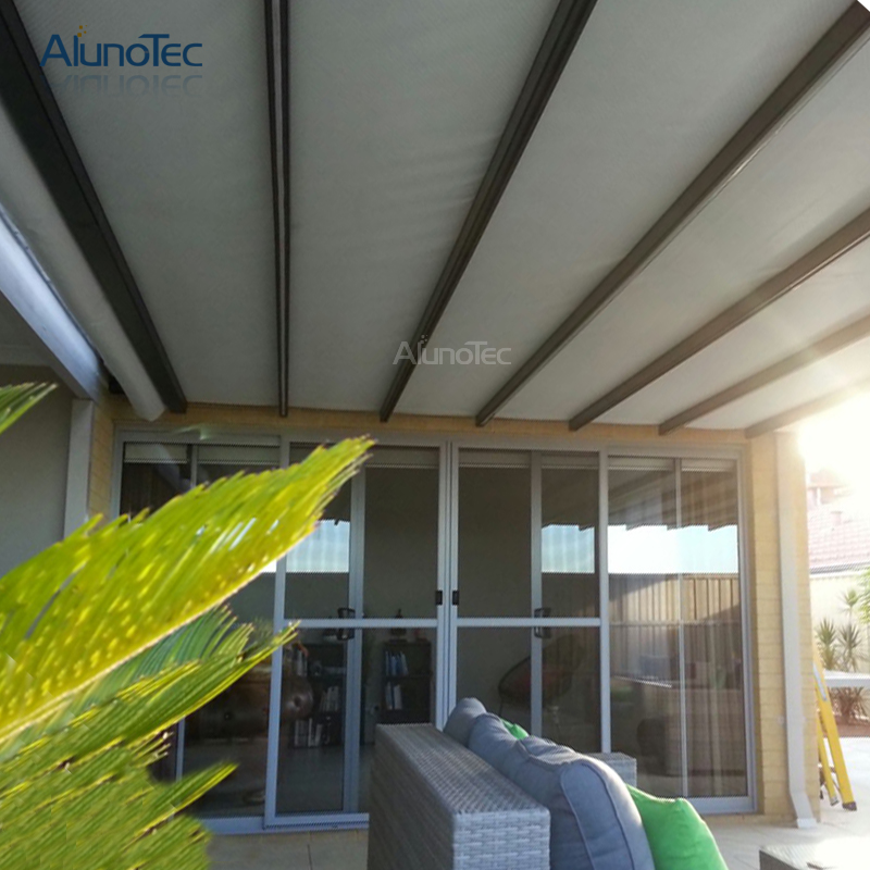 Garden Patio Cover Retractable Fabric Roof Awning