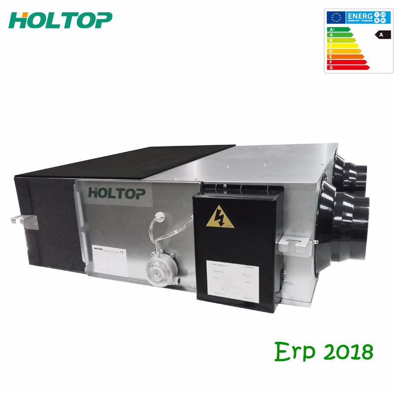 ErP 2018 compliant HEPA DC motor heat recovery ventilation fan unit with filter alarm