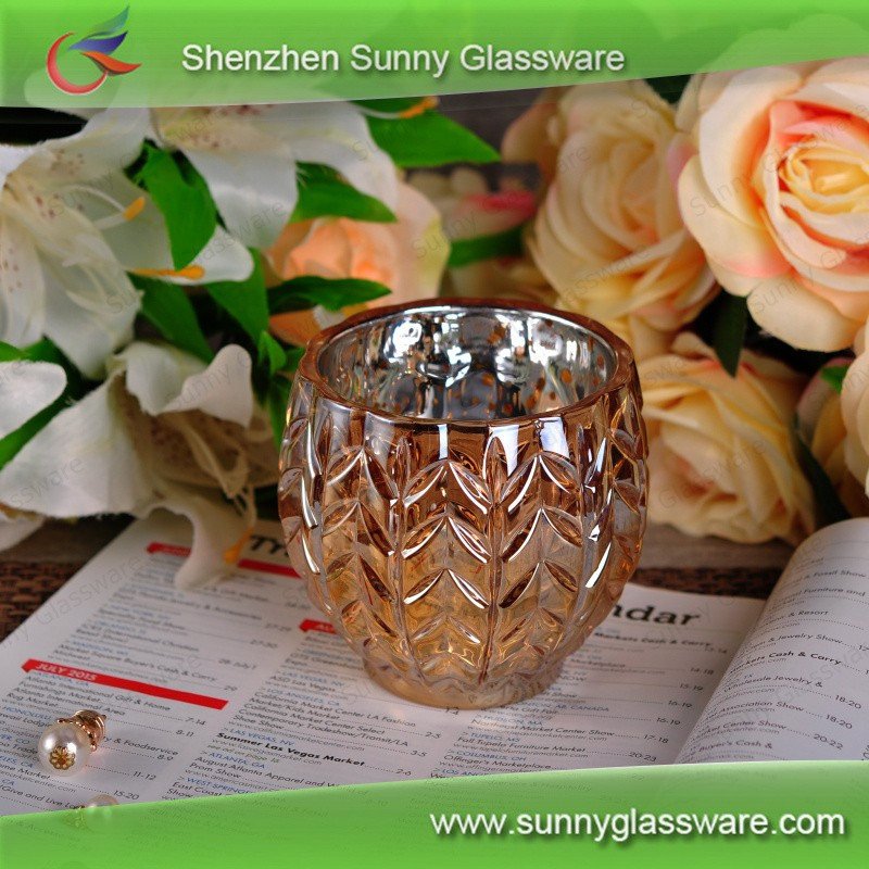 Wholesales Gold Glazing Pineapple Ceramic Candle Holder