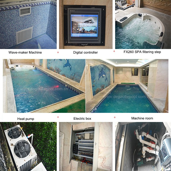 Private Swimming Pool Fee With Spa And Wave Maker Machine Buy Private Swimming Pool Fee Spa
