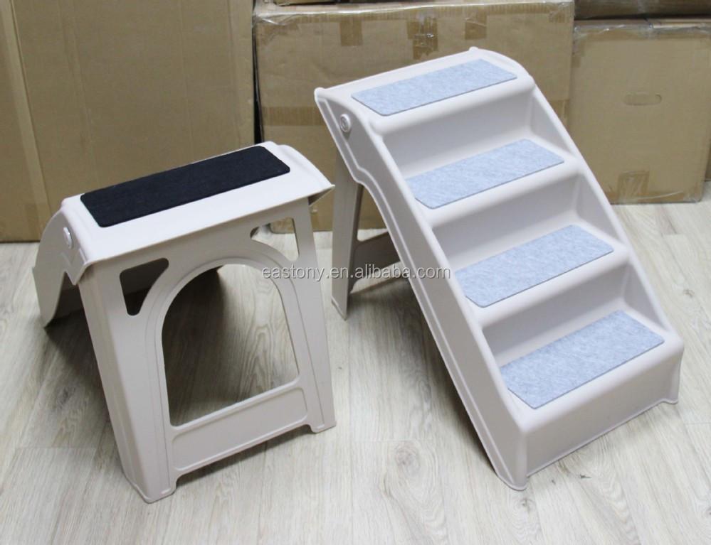 Eastony Outdoor Indoor Portable Plastic Pet Steps Pet