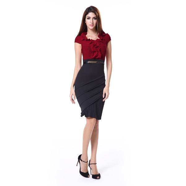 Büro Kleid Designs Damen Büro Tragen Kleider Kleid - Buy Damen Büro ...