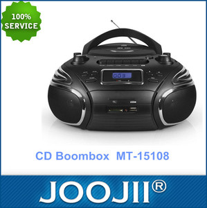 Portable radio CD/MP3 player with cassette recorder function