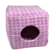 PETO Thousand bird pattern flannel square dog house four seasons general purpose cat kennel pet kennel