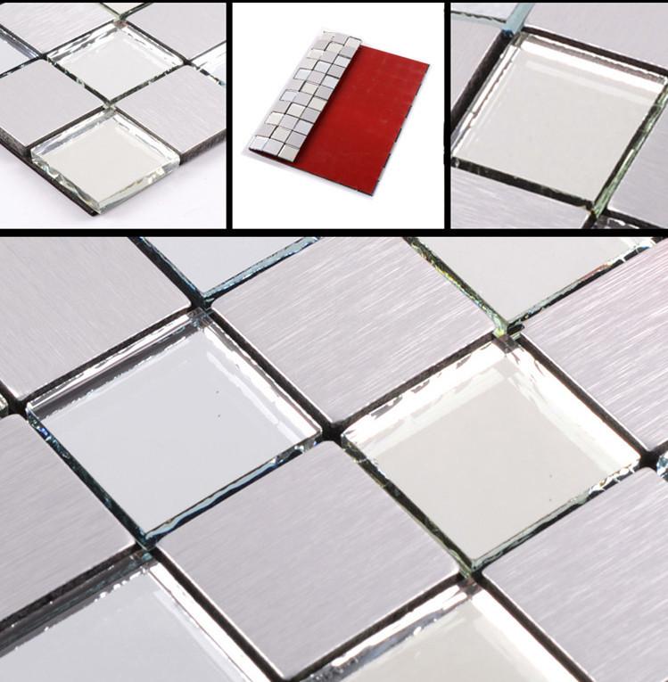 Acquista all 39 ingrosso online specchio di vetro mosaico da for Maioliche adesive