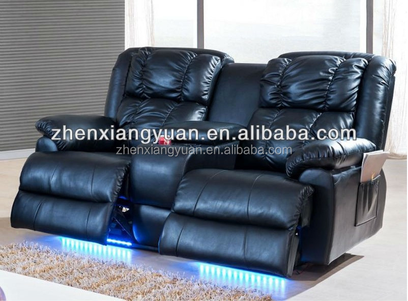 Leather Sofa Recliner With Led Light