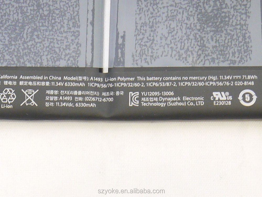 New Laptop Battery A1502 Battery For Apple Macbook Pro Retina ...