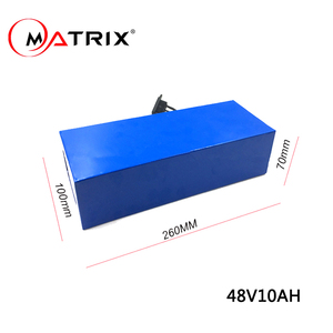 48v 10 blue PVC wrap batter pack with longer cycle life