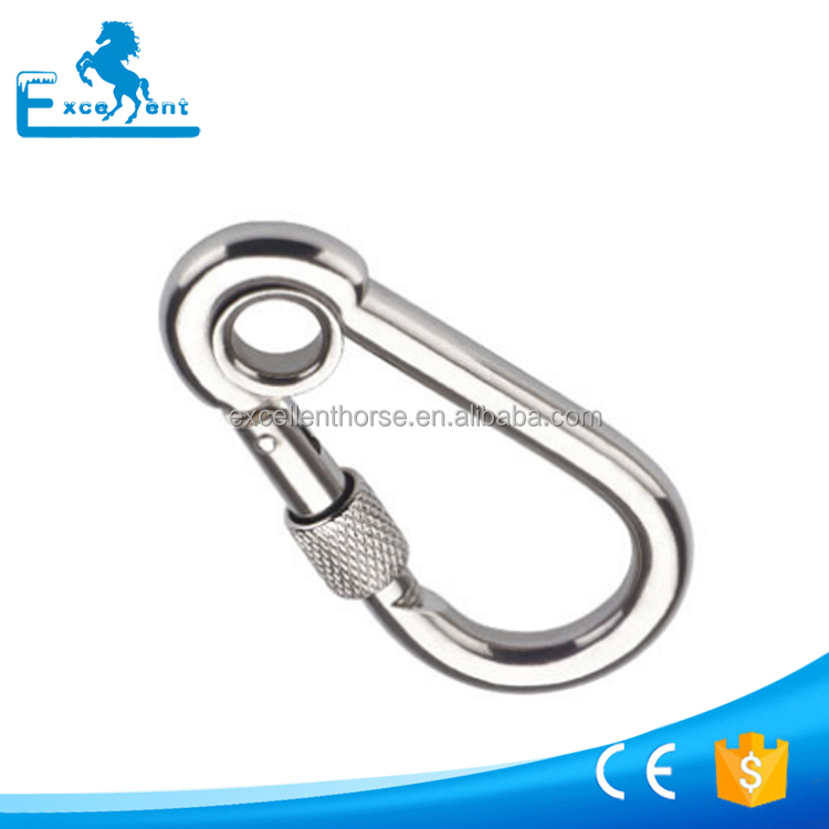 4*40 Galvanized metal snap hook with clamps