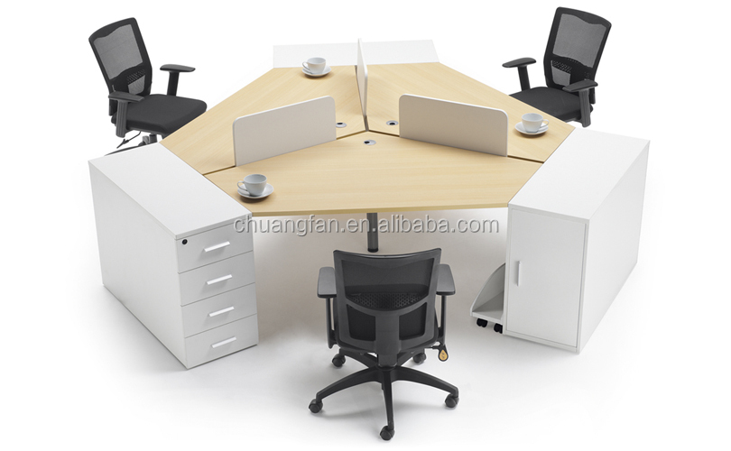 Gd Cd0829 Fashionable 120 Degree 3 Person Office