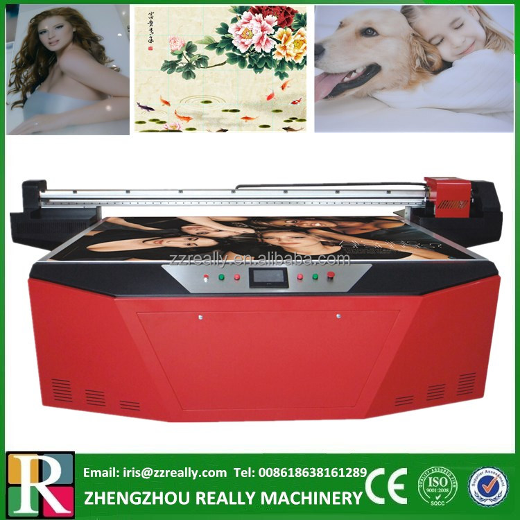 The UV Curing Ink type of uv flatbed printing machine / skyjet uv flatbed printer